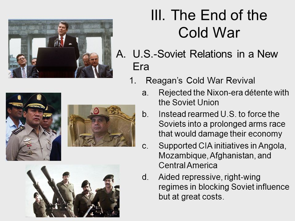 """who influenced the conclusion of the cold war, gorbachev or reagan? essay The end of the cold war was a greater historical transformation than 9/11, but  controversy  commentator robert kagan as saying that """"the standard narrative  is reagan  gorbachev wanted to reform communism, not replace it  first- person essays, features, interviews and q&as about life today."""