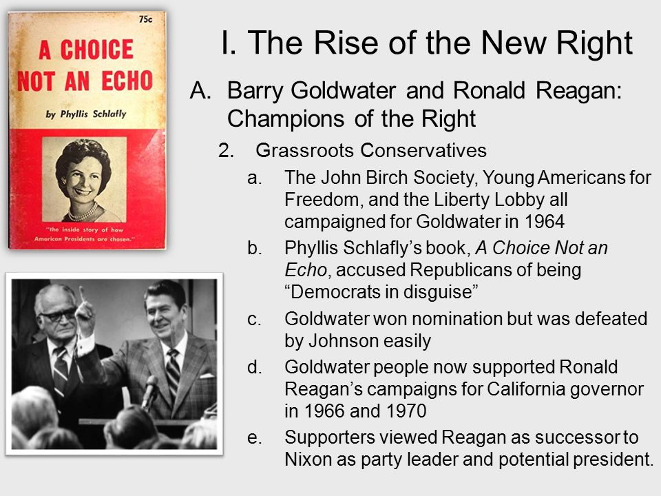 rise of conservatism after 1970 was History question the rise of history question the rise of conservatism after 1970 was primarily a response to the excesses of the 1960s, discussmust include works cited too4 pages long essay submitted: 6 years ago.