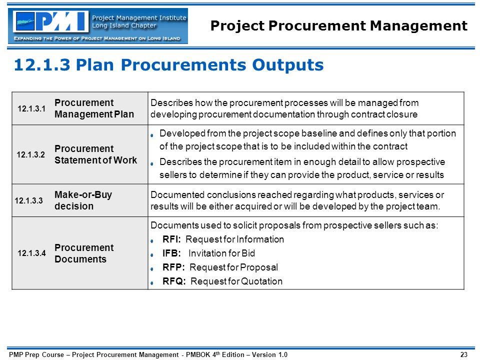project procurement management plan sample 13 various ways