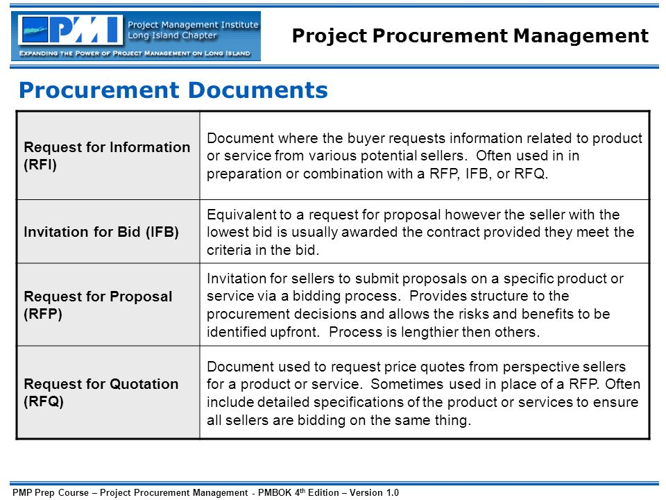 rfp pp1 contract and procurement management Proj598: contract and procurement management- week 4 course project- part 1 proj598: contract and procurement management- week 4 course project- part 1 obj.