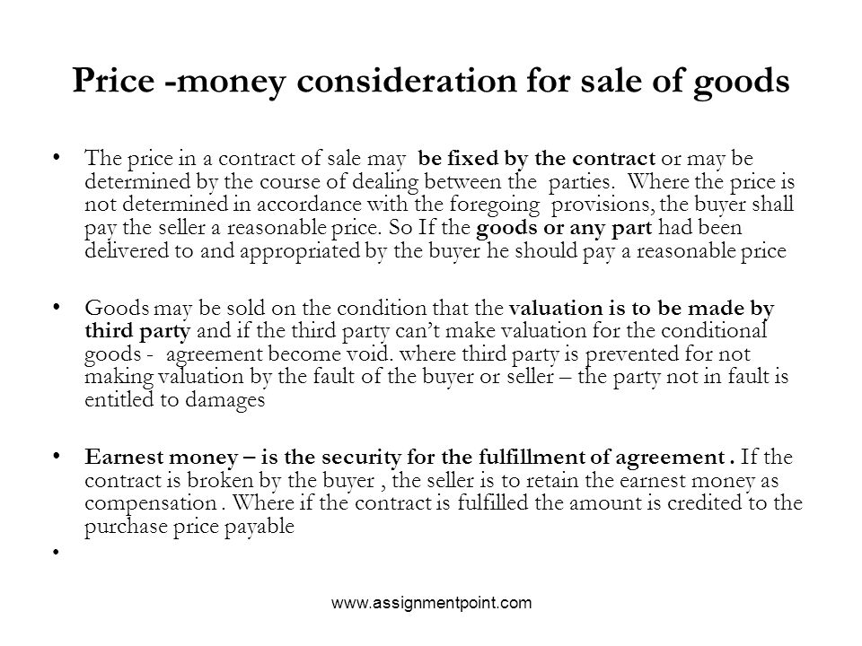 Sale Of Goods Act Business Contract Law - Ppt Download