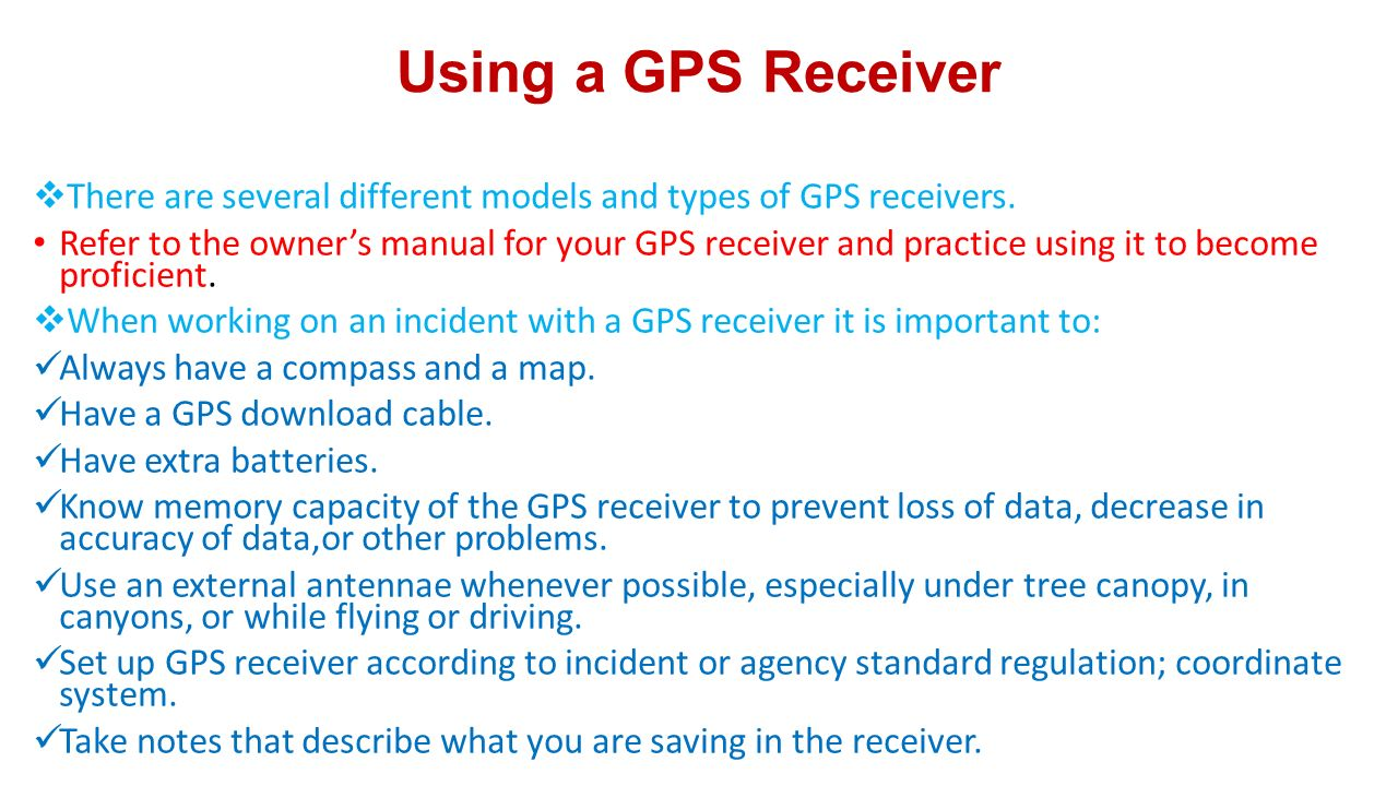how to use a gps receiver