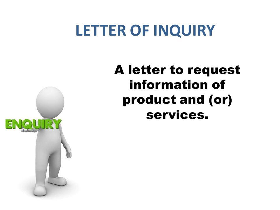 letter request information