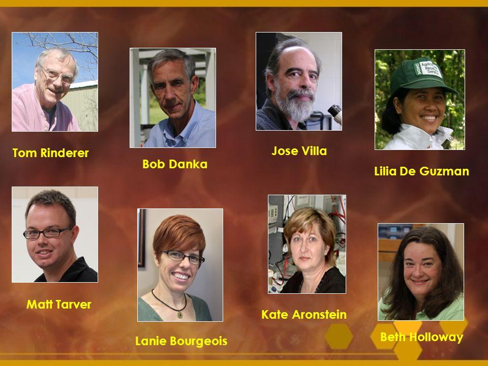 Tom Rinderer Jose Villa. Bob Danka. Lilia De Guzman. Matt Tarver. Kate Aronstein. Lanie Bourgeois.