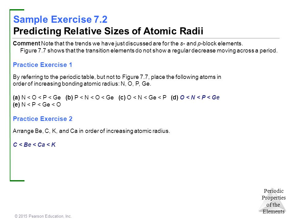 Chapter 7 periodic properties of the elements ppt video online predicting relative sizes of atomic radii urtaz Image collections
