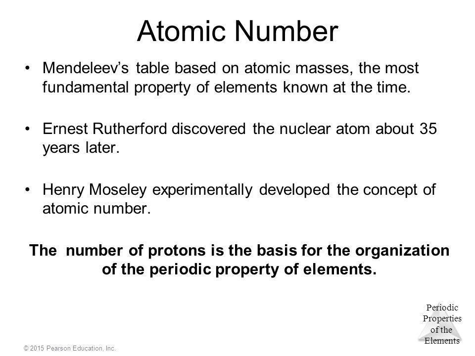 Chapter 7 periodic properties of the elements ppt video online 4 atomic number mendeleevs table based urtaz Images