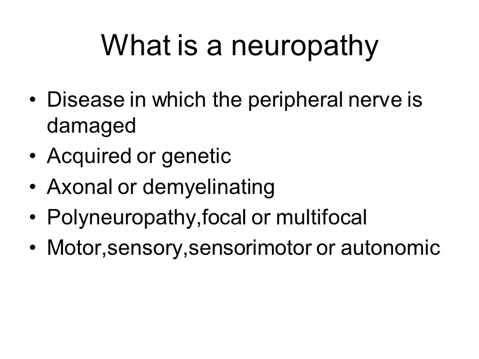 acquire peripheral neuropathy essay On management of patients with a demyelinating neuropathy and a paraprotein (paraproteinemic demyelinating neuropathy [pdn]) by review of evidence and expert  efns/pns pdn guideline journal of the peripheral nervous system 15:185–195 (2010) background  in patients with acquired demyelinating neuropathies, and in patients in whom.