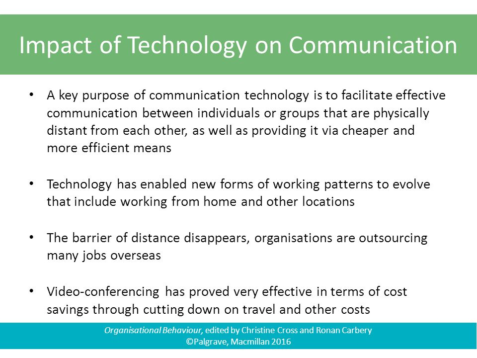 the impact of communications technology on Communication technology has a profound impact on both public and private life in public life communication technology serve more advantages than disadvantages.
