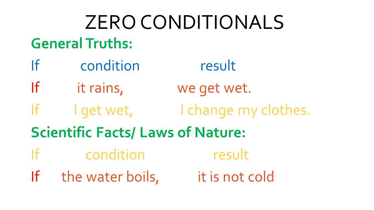 ZERO CONDITIONALS