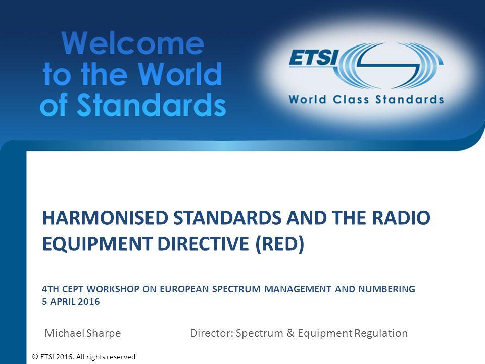 Harmonized standards red