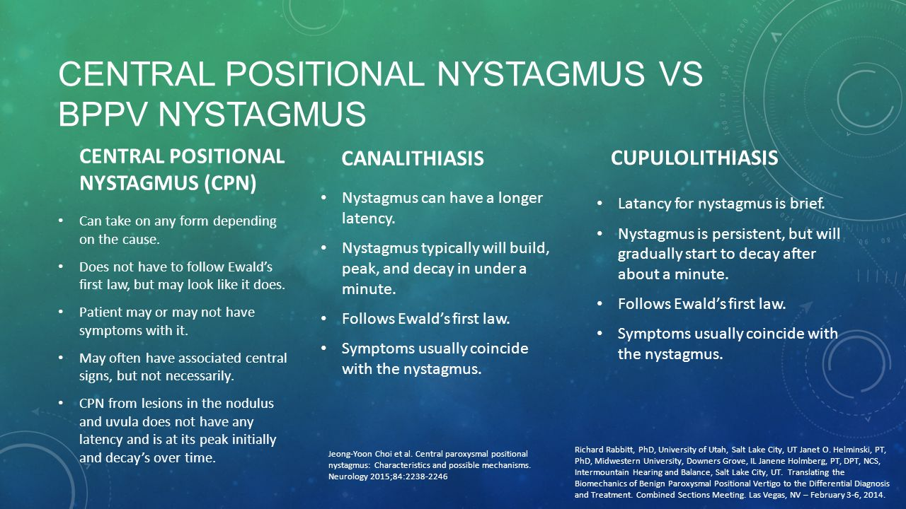 how to tell if i have nystagmus
