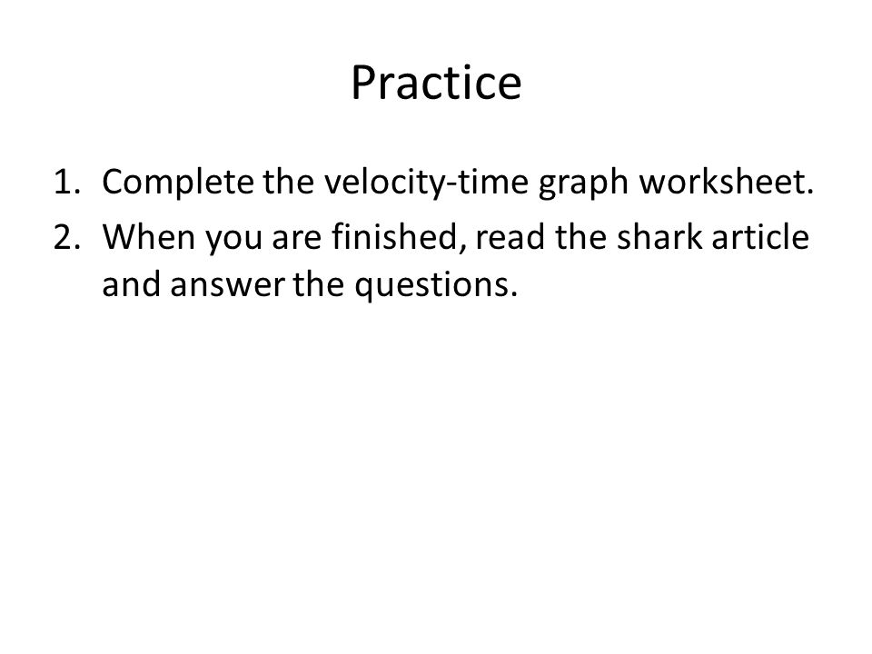 Unit 1 Motion Chapter 2 Describing Motion ppt download – Velocity Time Graph Worksheet Answers