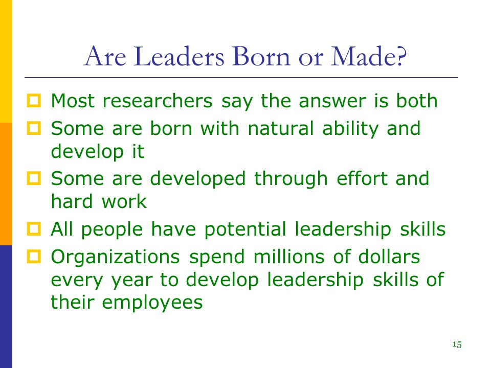 leaders are born or made theory