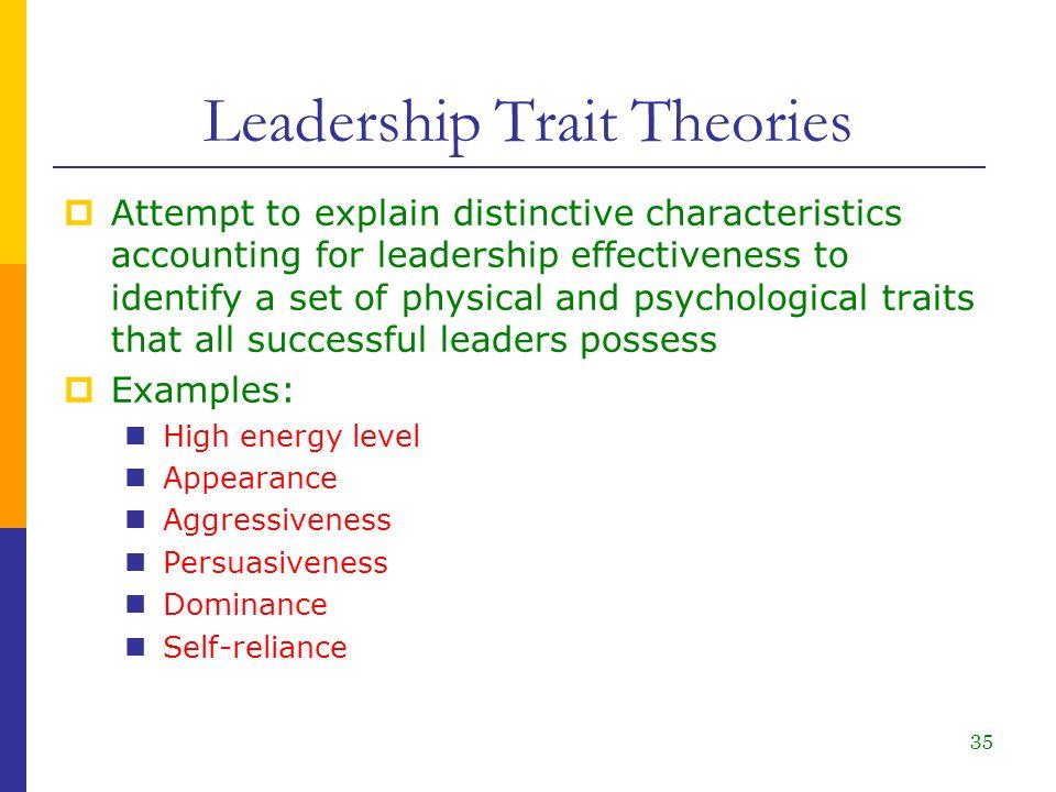 leadership traits and skills