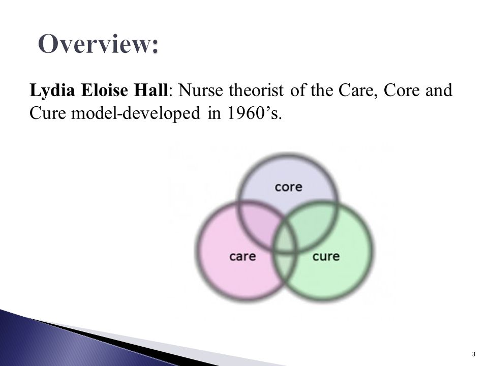 lydia hall nursing theory Lydia hall: the cure, core, and care no description by lydia clark know all parts of lydia hall's theory, cure, core, and care understand the theory's.