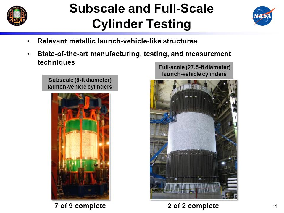 Subscale and Full-Scale Cylinder Testing