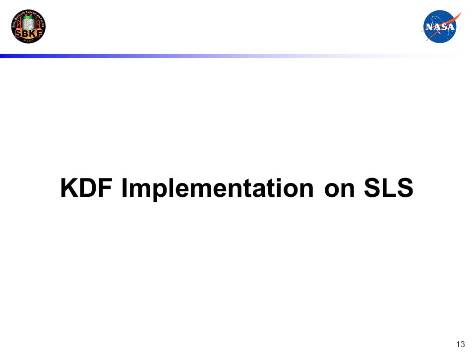 KDF Implementation on SLS