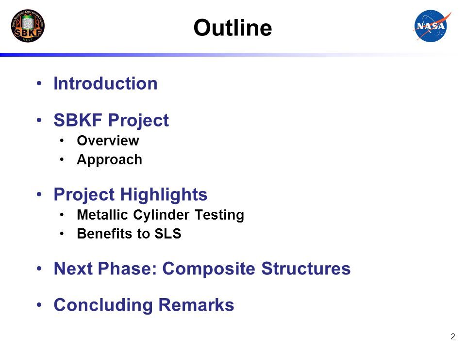 Outline Introduction SBKF Project Project Highlights