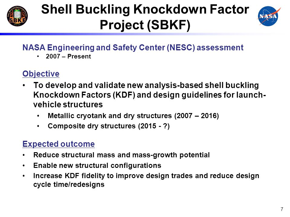Shell Buckling Knockdown Factor Project (SBKF)