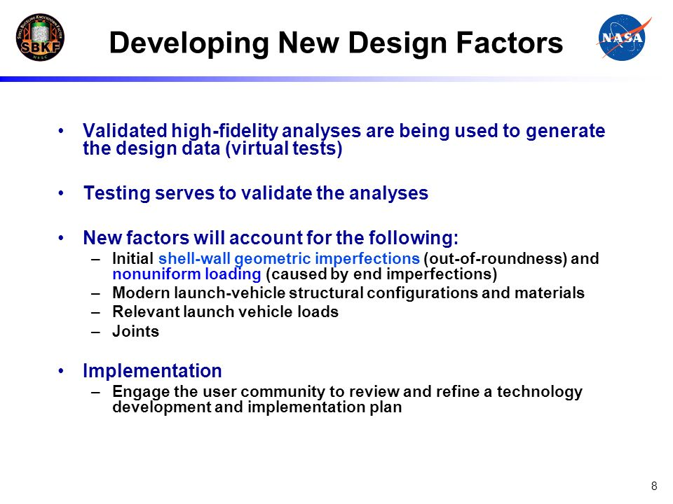 Developing New Design Factors