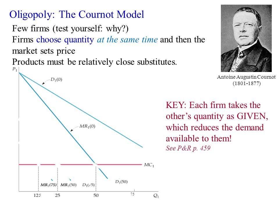 implications of the cournot duopoly model essay Cournot and bertrand competition in a di erentiated duopoly with endogenous technology adoption  hongkun ma  asymmetric technology choices can arise as in the duopoly case but the welfare implications are not robust  focuses on the explanation of heterogenous rms in a cournot duopoly al-though both papers study technology adoption.
