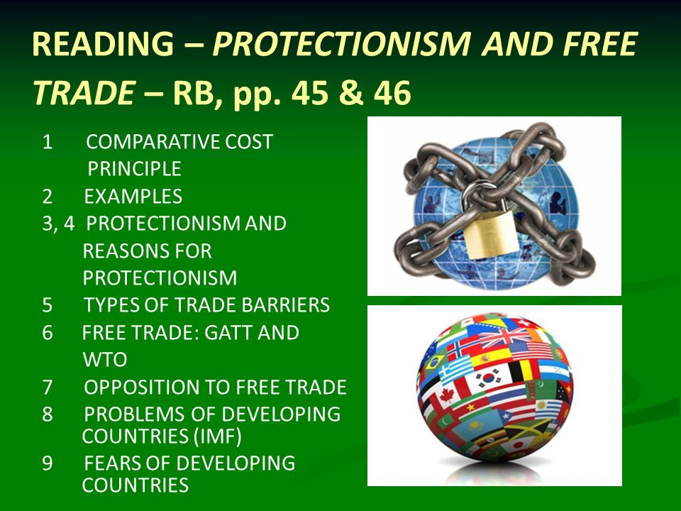 a comparison between protectionism and free trade Equitiescom is an advanced financial information center they made no difference the balance between free trade and protectionism has been a major political.
