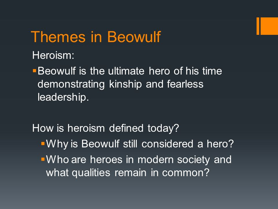 comparing beowulf heroes and todays heroes True blue revolutionaries or tired beowulf reruns beowulf to batman: the epic hero and pop culture by roger b rollins compares the design of the epic poetry to the design of today's pop culture.