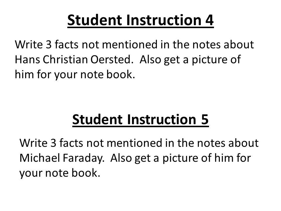 Student Instruction 4 Student Instruction 5