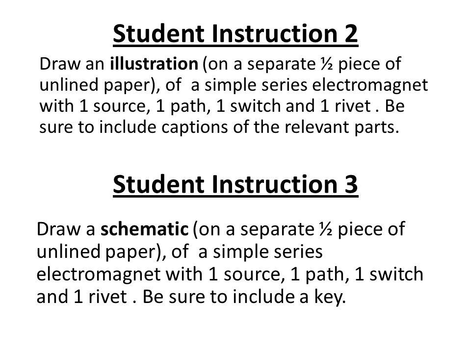 Student Instruction 2 Student Instruction 3