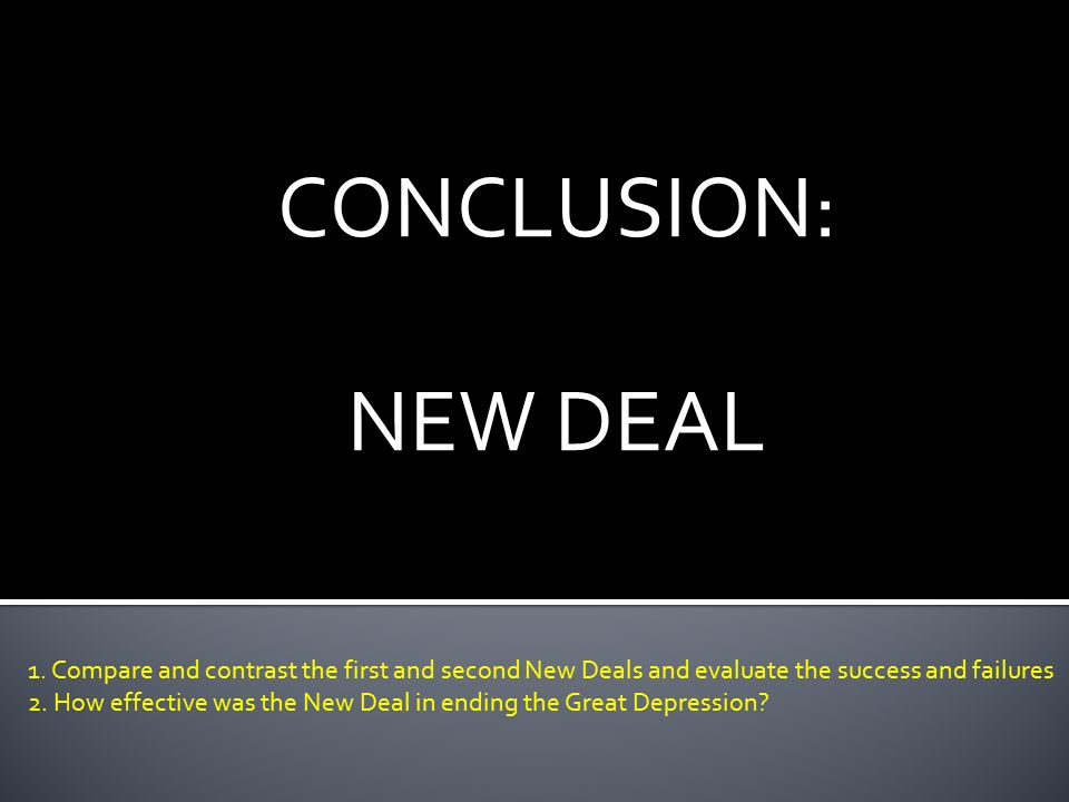 thesis statement great depression new deal The 1930's -- great depression & new deal learn with flashcards, games, and more — for free.