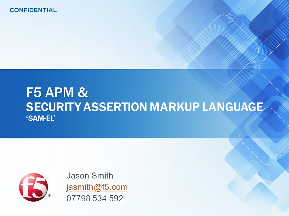 F5 APM & Security Assertion Markup Language 'sam-el'