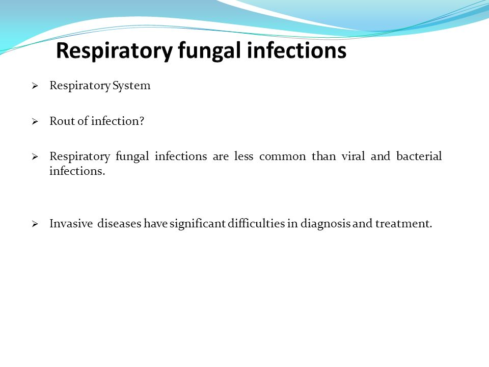 Treatment of fungal pumonary infection