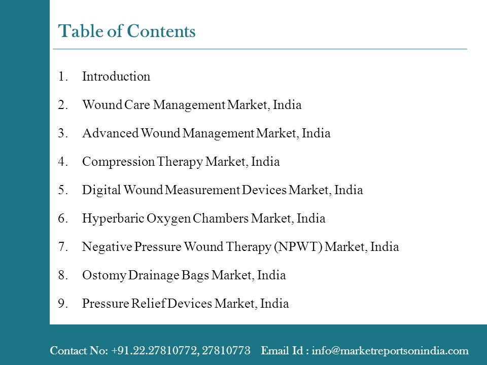 evaluation of the indian wound care market Nutrition plays a vital role in skin function and wound care practices and nutritional support needs to be considered an elementary a part of advances in skin and wound care conferences wound healing and skin nutrition assessment is a complex process neglecting the nutritional skin health and palliative wound care of.