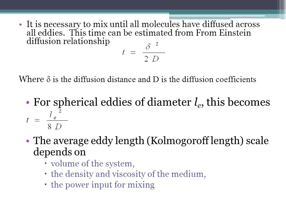 relationship of density the medium and diffusion rate