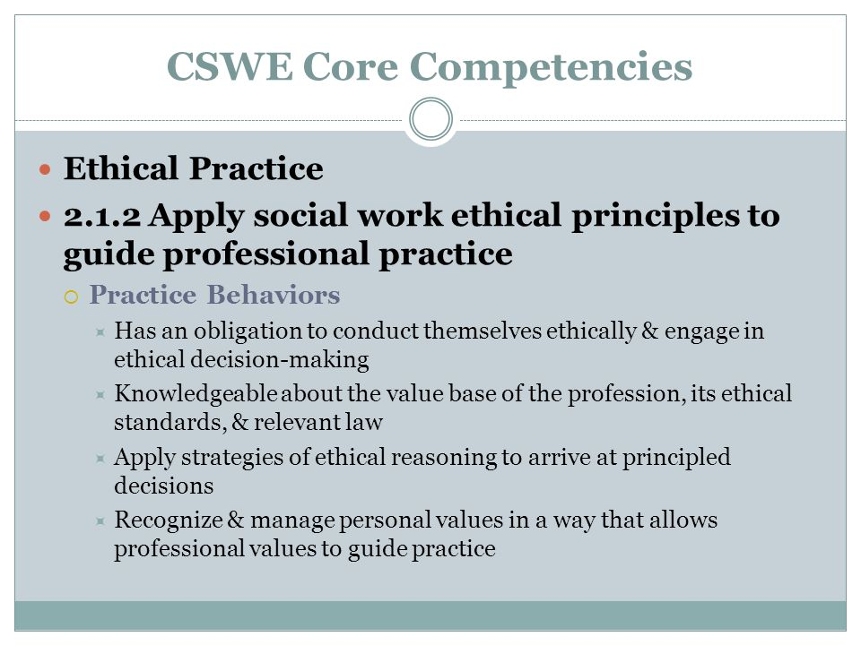 Applying Ethics in Practice