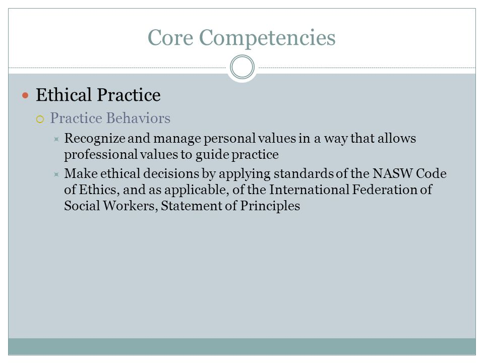 social work code of ethics Social work organizations such as nasw, cswe, ifsw highlight  the national  association of social workers code of ethics explicitly states in its preamble.