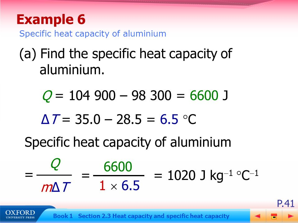 the specific heat capacity of aluminium essay The sample elements used were five different metals, aluminum (al), lead (pb), copper (cu), and two of which that are unknown, expected to be explained by comparing the experimental specific heat capacity (cp) against the accepted cp of a the metal my observations lead to test.