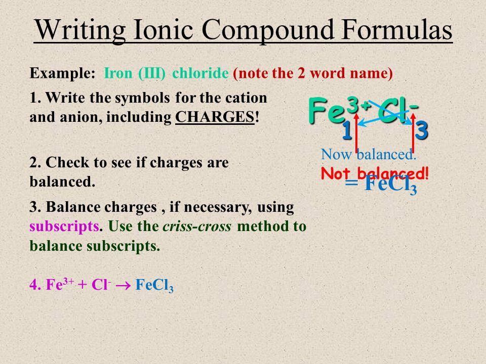 Chemical Formula Worksheet
