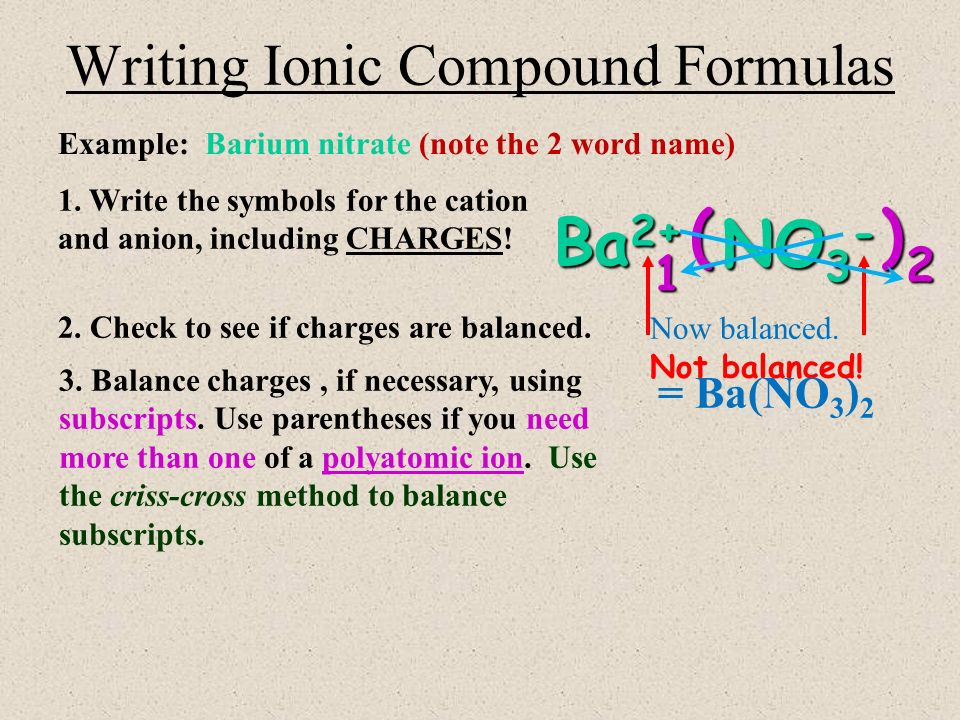 How to write formulas for different compounds Jillian Charland     BobbyTalks  Writing Formulas for Binary Ionic Compounds