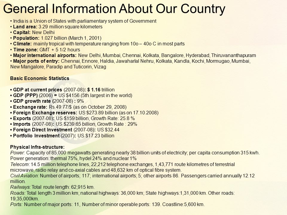 General Information About Our Country