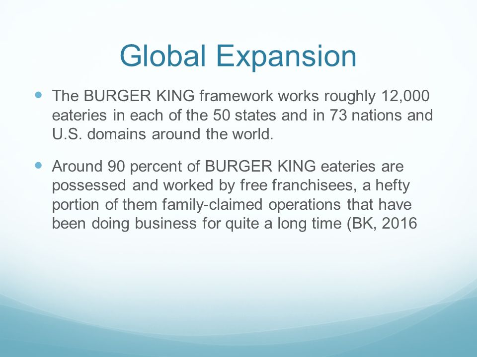 Industrial Analysis About Burger King Commerce Essay
