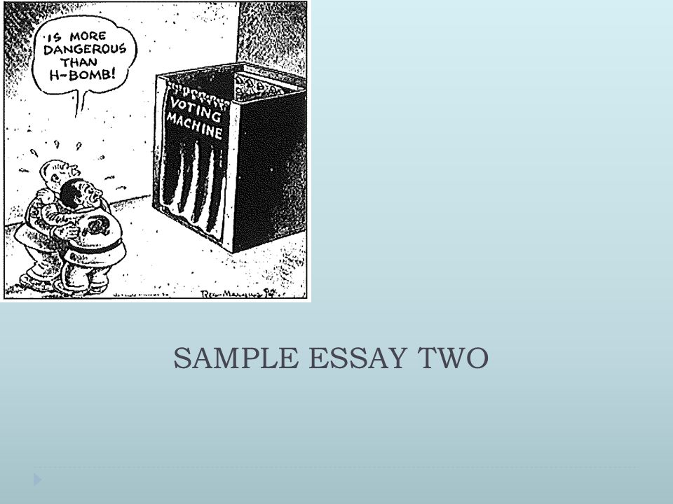 SAMPLE ESSAY TWO