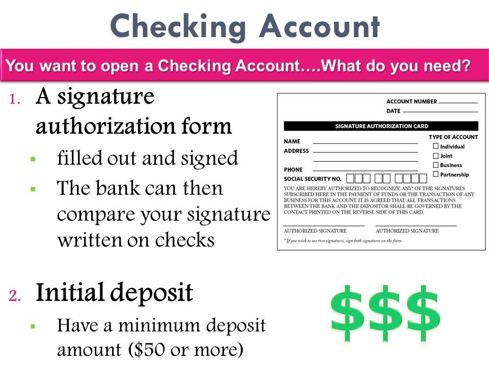 Section 3 banking services ppt video online download for Documents do you need to open a bank account