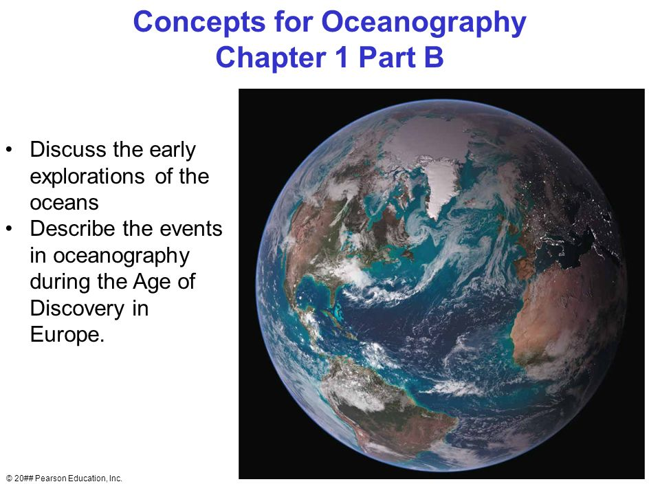 Ch 19 Age Of Exploration Slides: Concepts Of Oceanography Chapter 1 Oceans Exploration