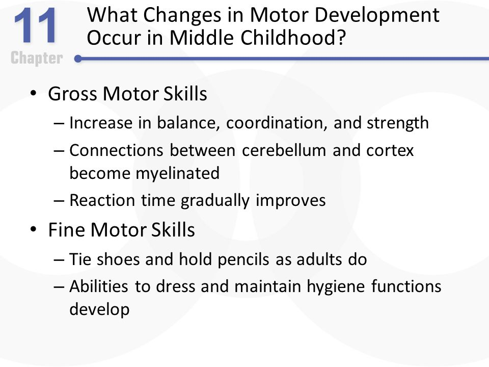 Middle childhood physical development ppt video online for What are gross motor skills in child development