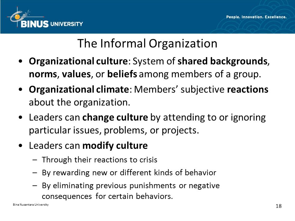 The Informal Organization