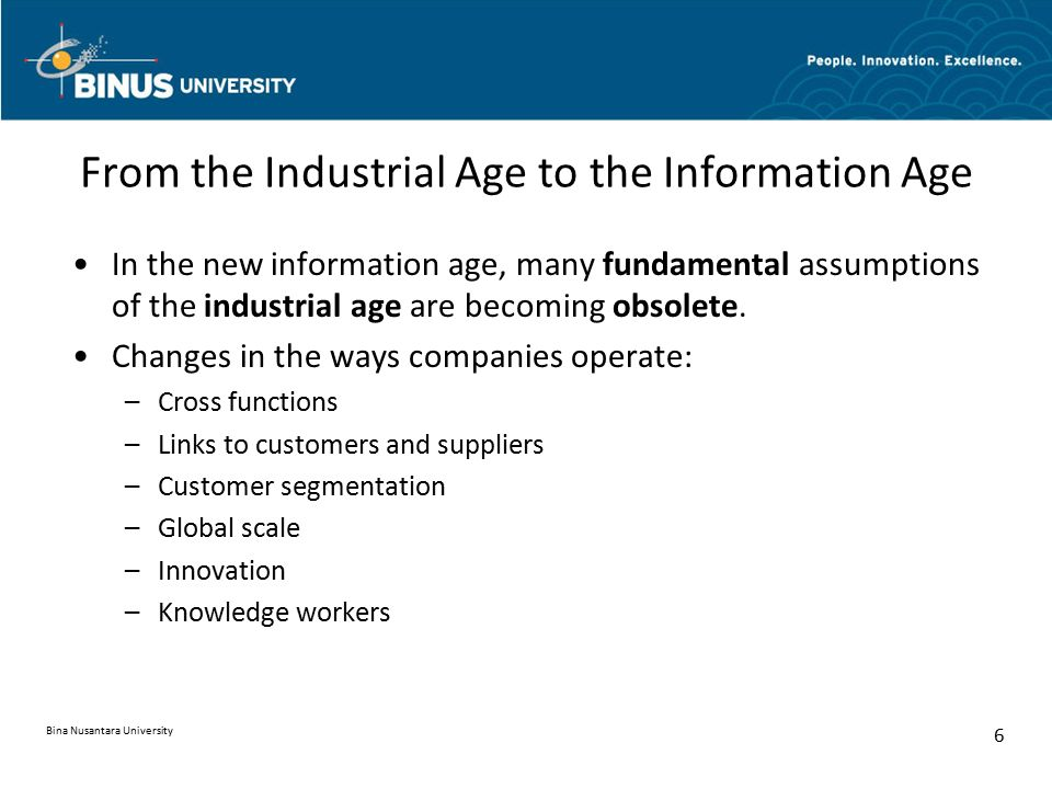 From the Industrial Age to the Information Age