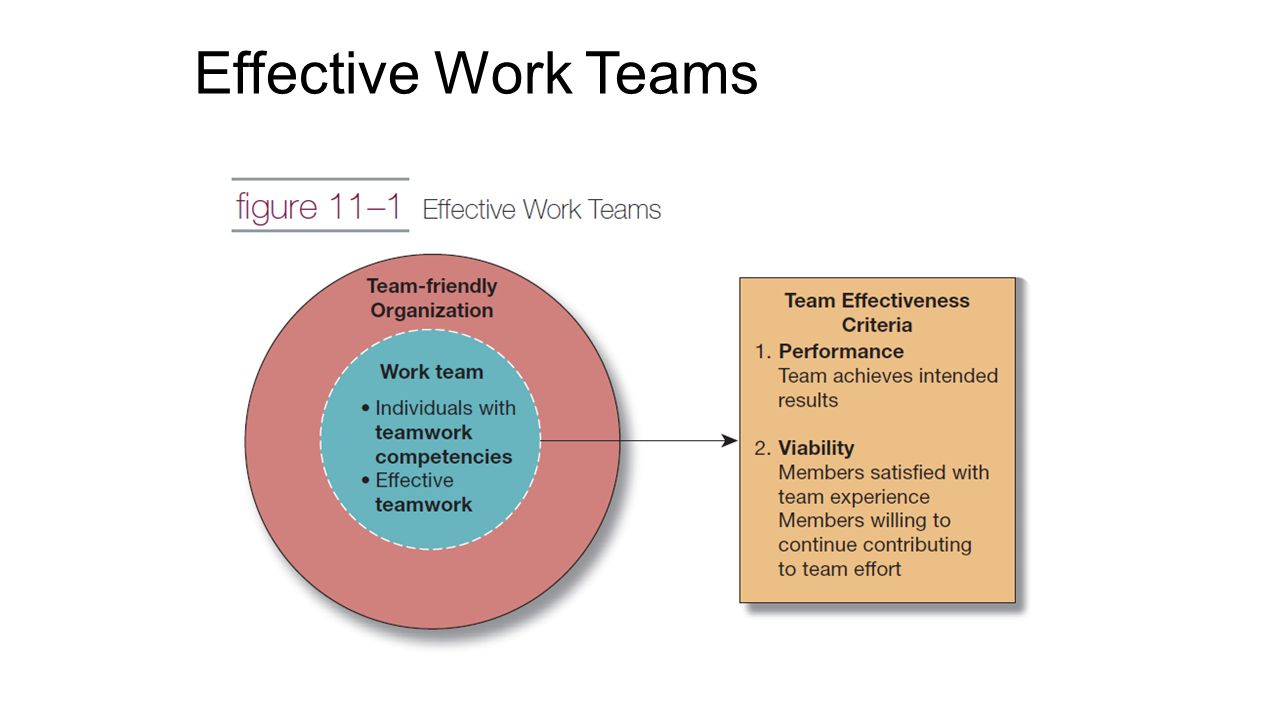 developing effective work teams Good team performance and positive team relations need to be developed and maintained and certain features or 'building blocks' enable teams to work together well before looking at these you might want to reflect on your own experience of team work to understand what makes a good or difficult team think back to teams you've been part of.