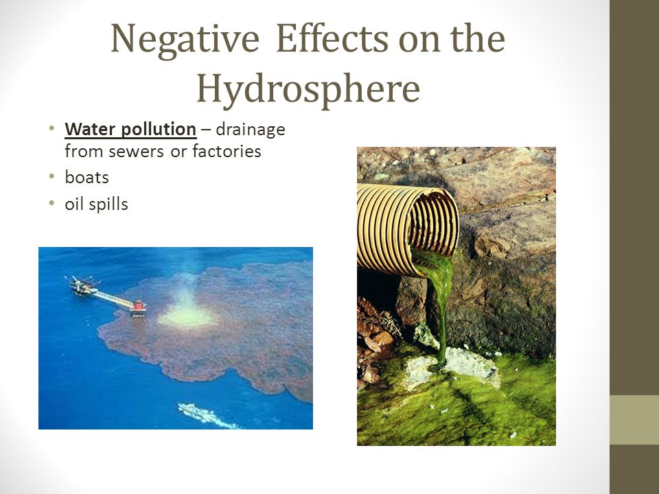 positive and negative effects of pollution The intensification of agriculture can lead to groundwater pollution related to the  both positive and negative impacts are briefly  and salinity effects.