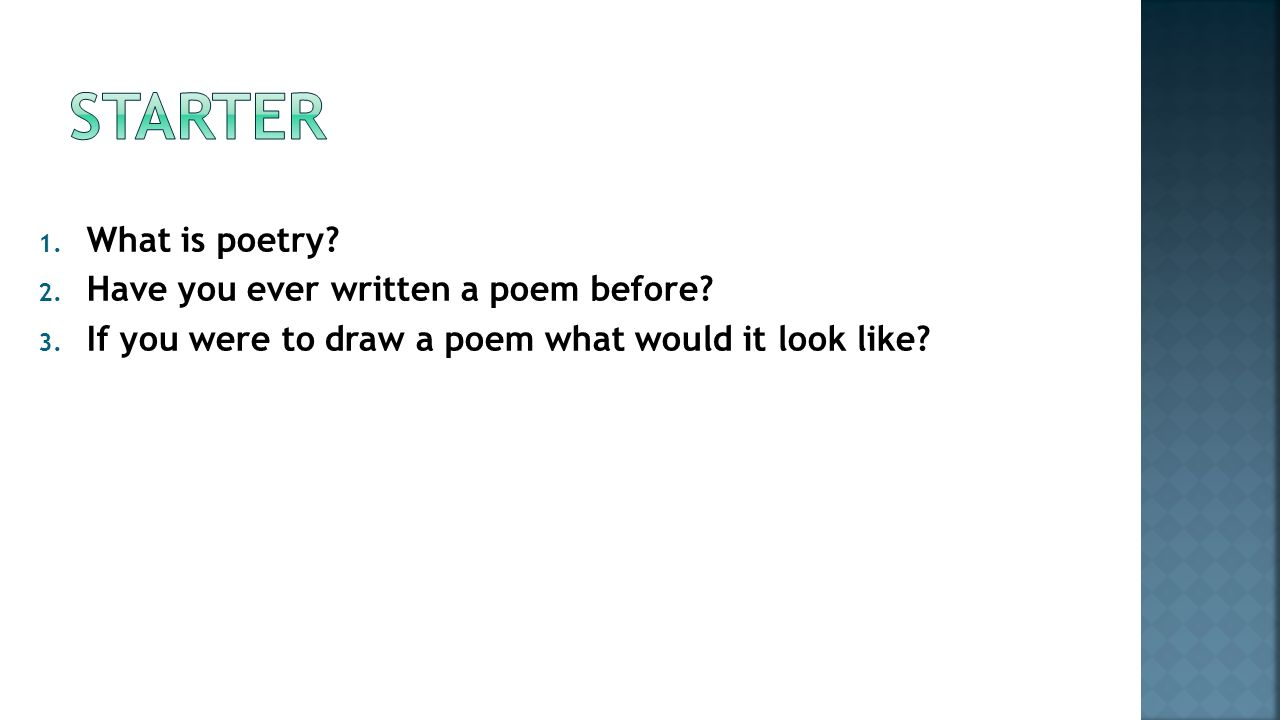 What is poetry 21